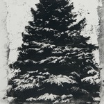"Pine, 24"" x 16"", charcoal and microcrystalline wax on paper, 2012"