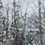 "Winter, 46"" x 60"", encaustic on canvas, 2011"